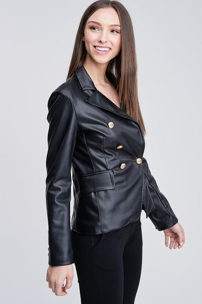 Tamara Leather Blazer
