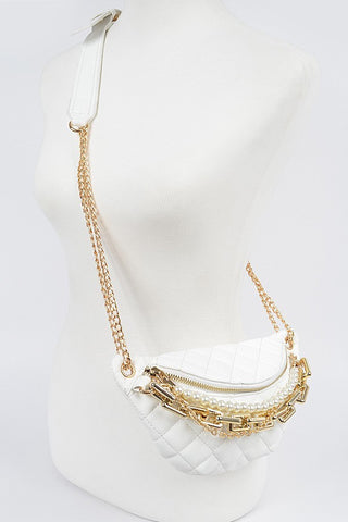 Pearl Chain Belt Bag