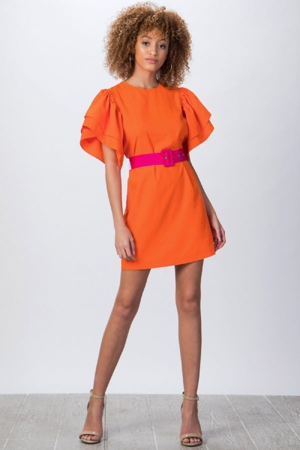 Orange Fuchsia Dress