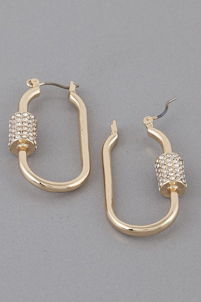 Lock Hoop Earrings