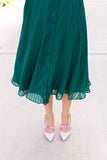Ruffle & Lace Chiffon Dress