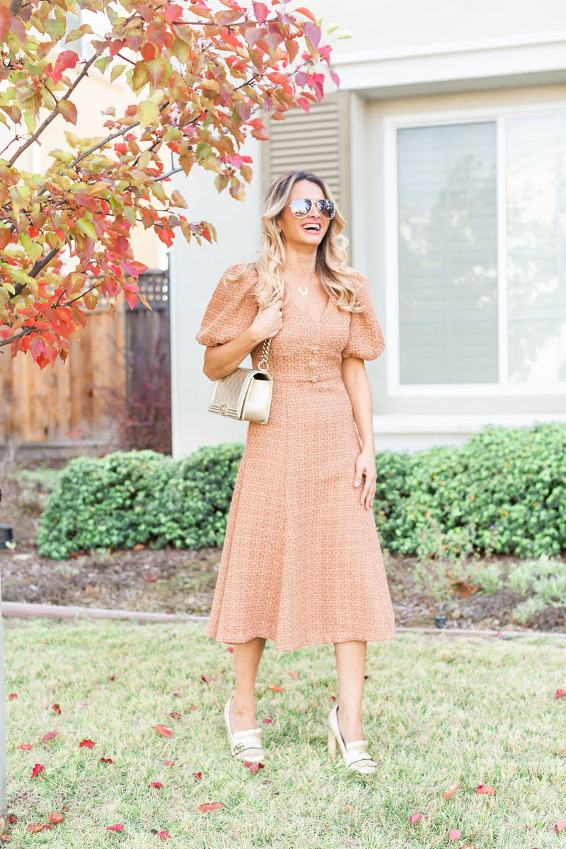 Tweed Midi Dress