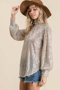 Sequin Long Sleeve Top