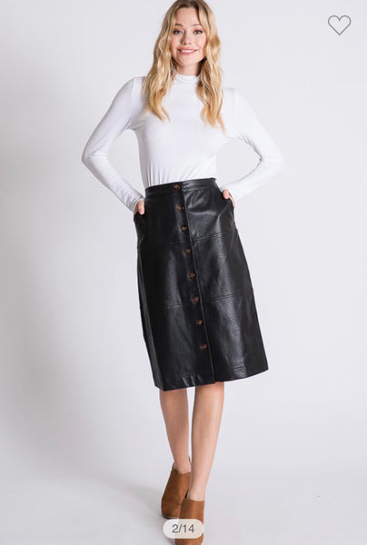 Lizzy Leather Skirt