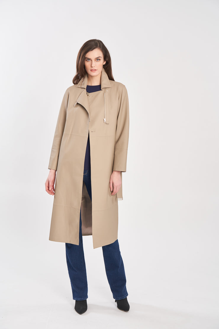 Diomi leather coat MM4800