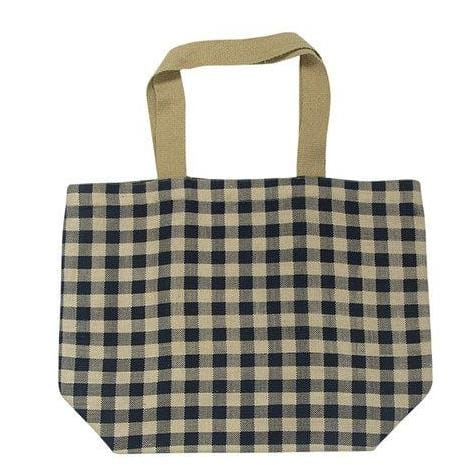 Apple Green Duck Gingham Tote - Navy
