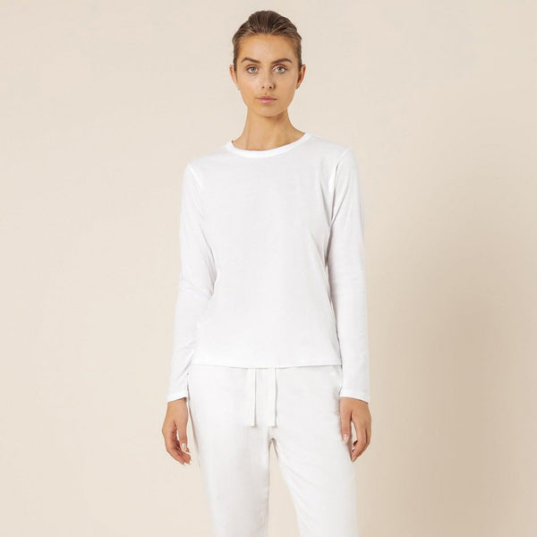 Nude Lucy Ava Long Sleeve Tee - White