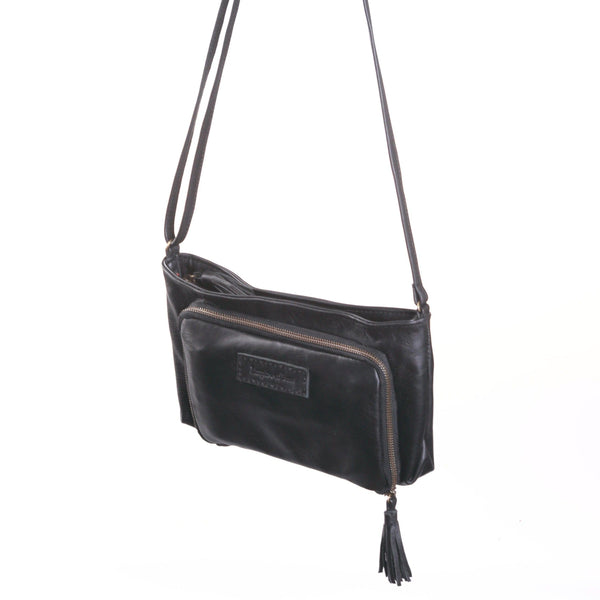 Empire of Bees  Leather Leonie Handbag - Black