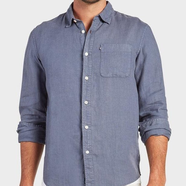 Academy Brand Hampton Long Sleeve Shirt - Pilot Blue