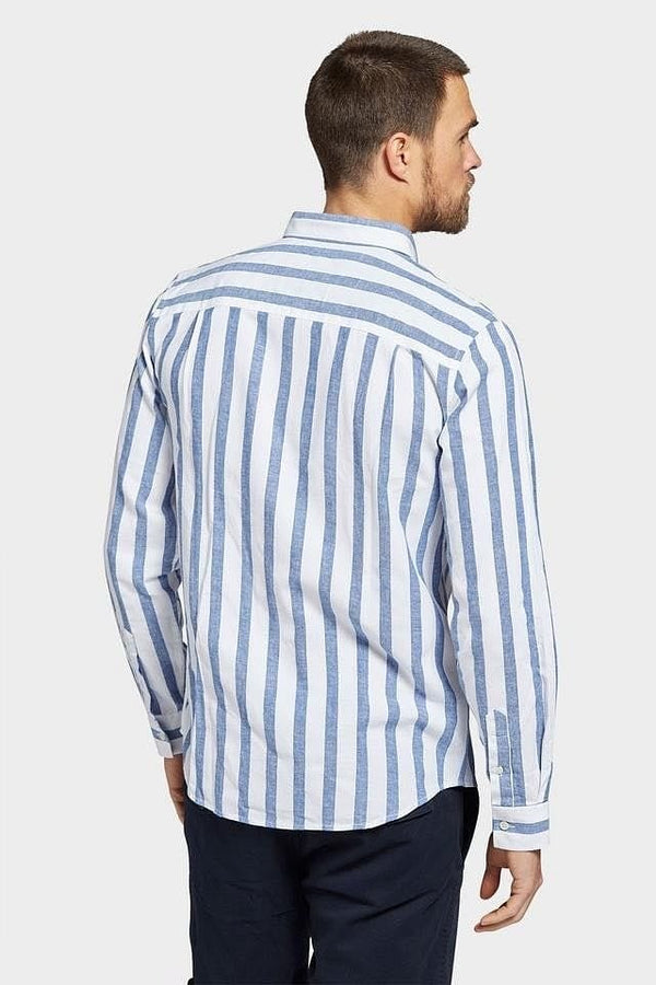 Academy Brand Ventura Long Sleeve Shirt - Navy/White
