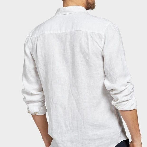 Academy Brand Hampton Long Sleeve Shirt - White