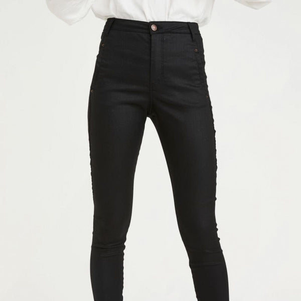 Five Units Jolie Pants - Coated Black