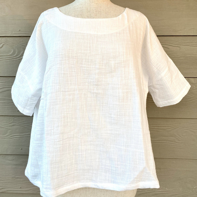 Somebody's Story Erin Top - Textured Top Ivory