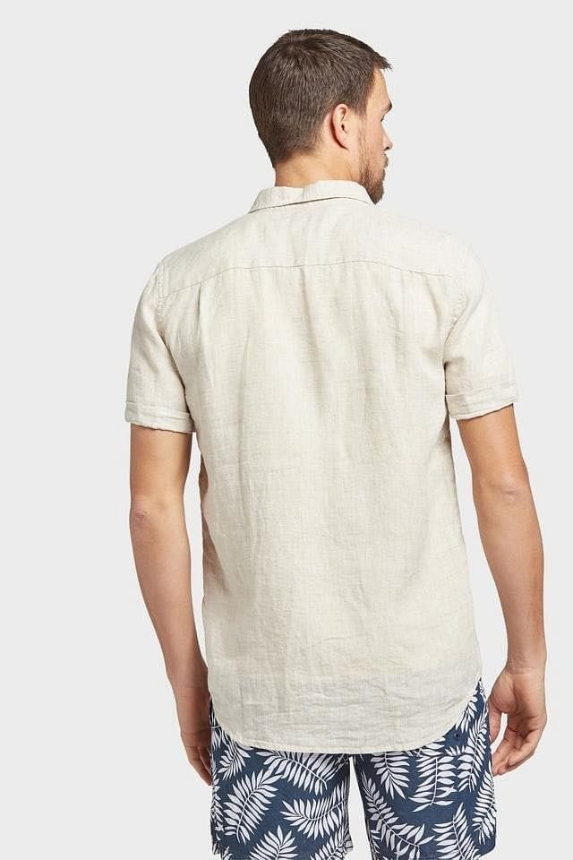 Academy Brand Hampton Short Sleeve Shirt - Oatmeal
