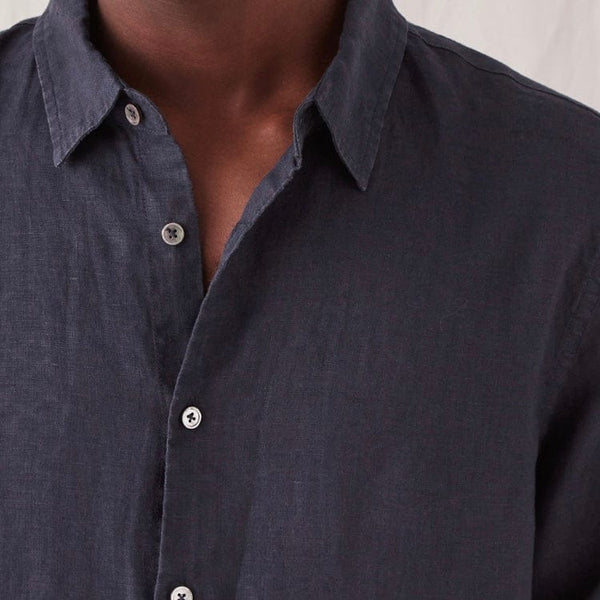 Assembly Label Casual Long Sleeve Shirt - True Navy