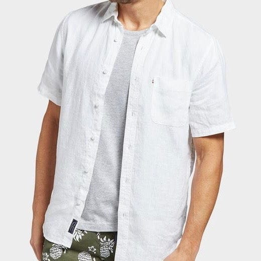 Academy Brand Hampton Short Sleeve Shirt - White