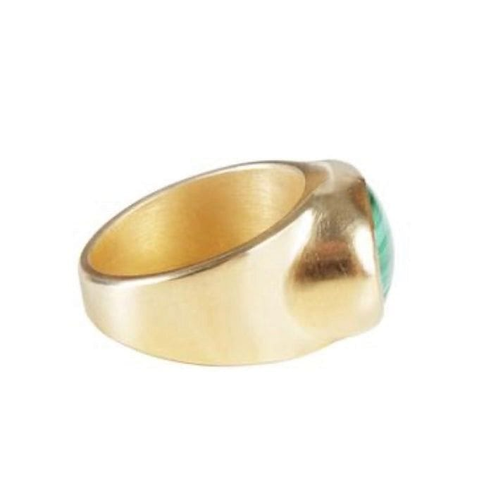 Fairley Malachite Cocktail Ring
