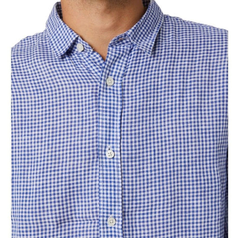 Academy Brand Mayfield Long Sleeve Shirt - Navy Check