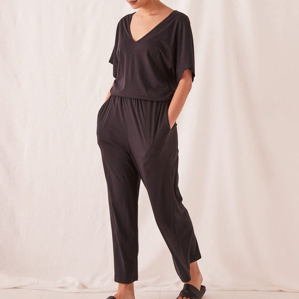 Assembly Label Lounge Jumpsuit - Black