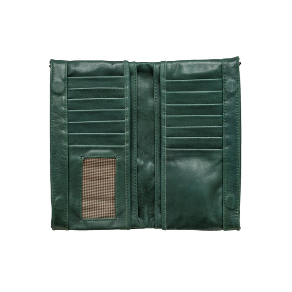 Empire of Bees Leather Maggie Wallet - Forest Green