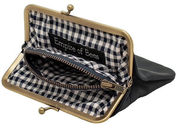 Empire of Bees Navy Blue Leather Penny's Purse