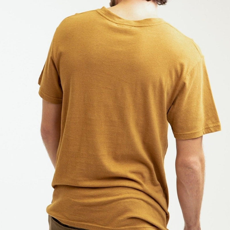 Rhythm Essential Linen T-Shirt - Tobacco