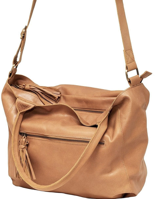 Empire of Bees Light Tan Leather Sigourney Handbag
