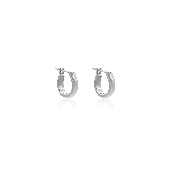 Linda Tahija Staple Hoop Earrings - Silver