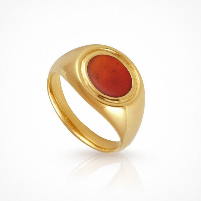 Temple of the Sun Kosmos Ring - Carnelian Gold
