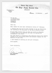 1982_Letter from Rotorua HS Old Boys RFC