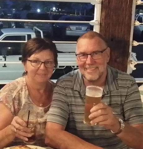 Gerry and Pam holidaying in Qld
