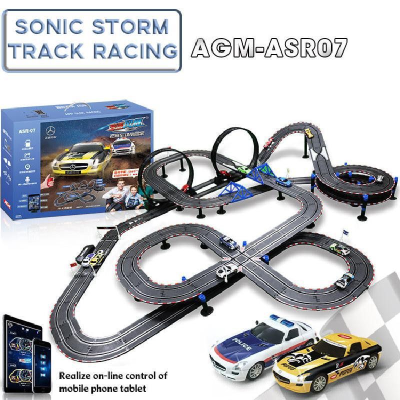 Electric Railway Circuit Car Bluetooth Control Double Racing