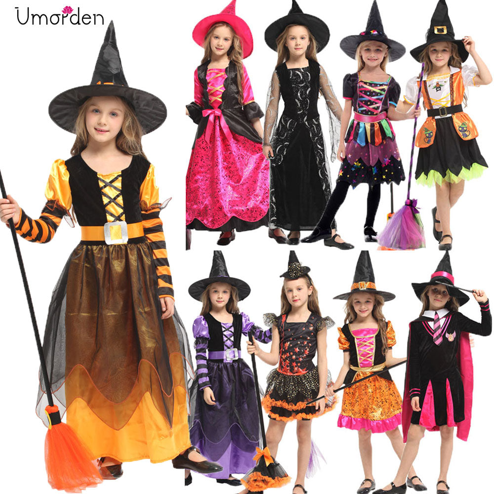Halloween Witch Costume Girls