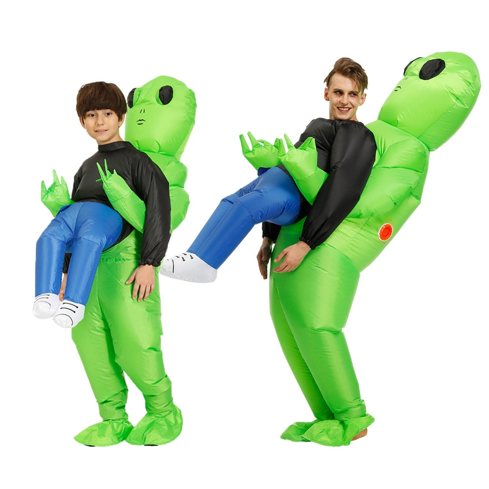 Green Alien costume Inflatable costume