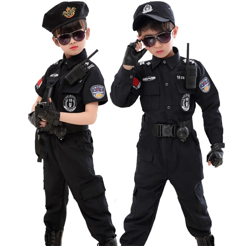 Children Halloween Policeman Costumes