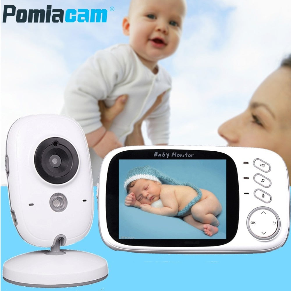 Wireless Video Color Baby Monitor High Resolution - Camera + Intercom