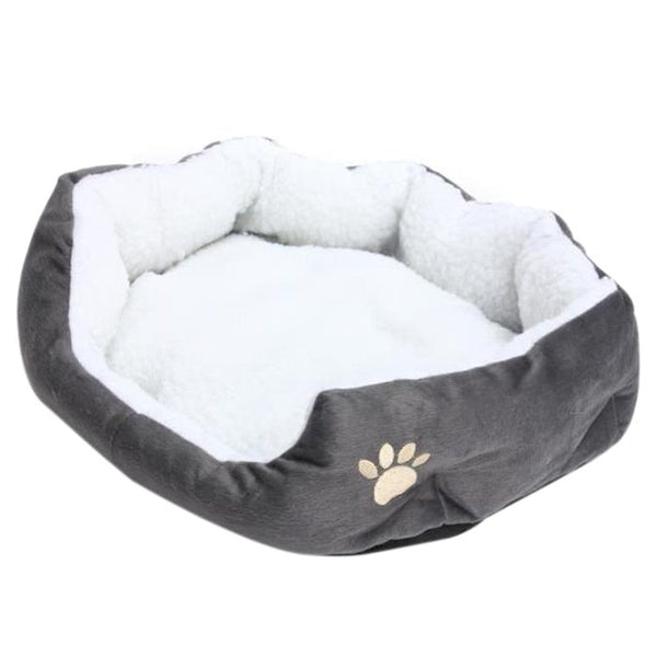 Dog Washable Bed - Fleece Basket with Cushion For Puppy