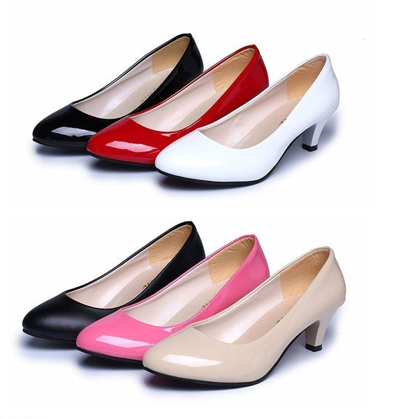 Woman leather Low Heels Shoes