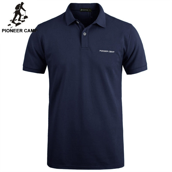 Polo Shirt Men Business Casual High Quality Pure Cotton