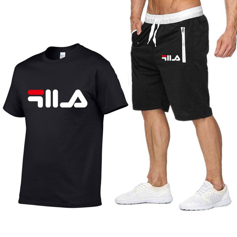 Man Sportsuit  T Shirt + Short Pants