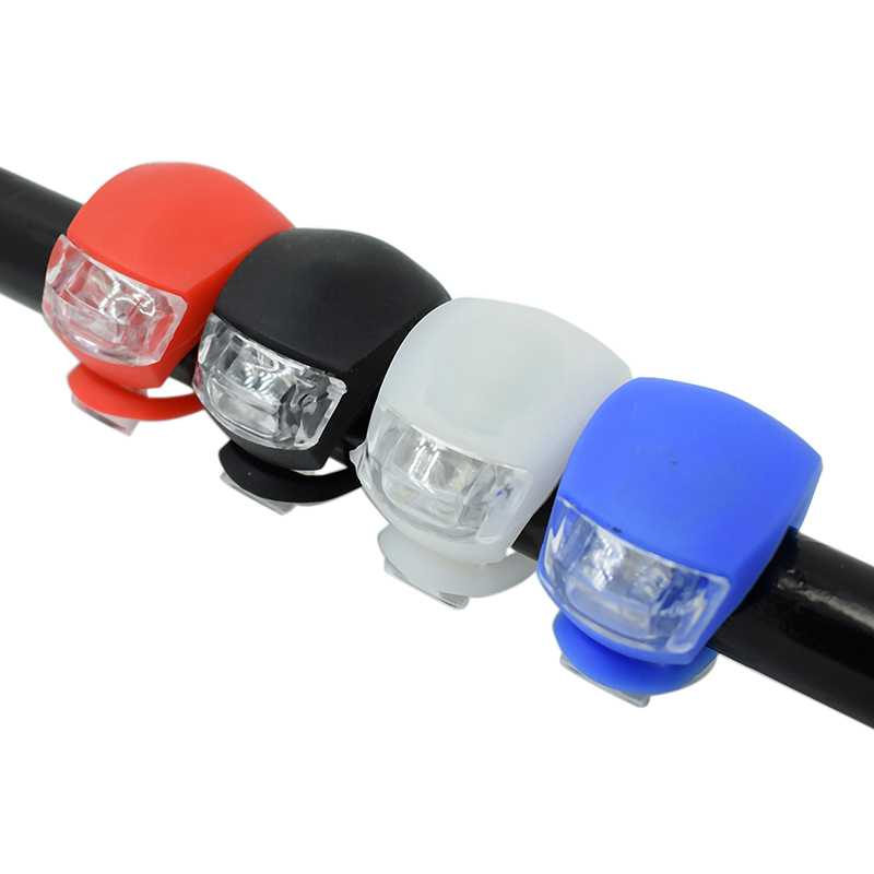 Bicycle Front Light Silicone LED Head Front Rear