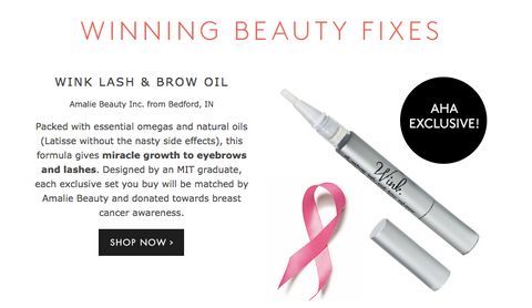 Winning Beauty Fixes - Ahalife Feature of WINK lash and brow oil