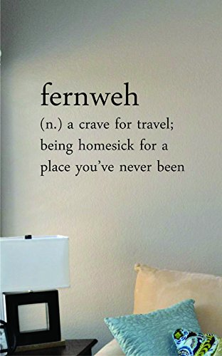 JS Artworks Fernweh Definition a Crave for Travel; Being Homesick for a Place You've Never Been. Vinyl Wall Art Decal Sticker