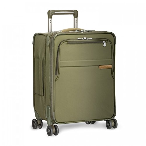 "Briggs & Riley Baseline Commuter Expandable 19"" Spinner, Olive, One Size"