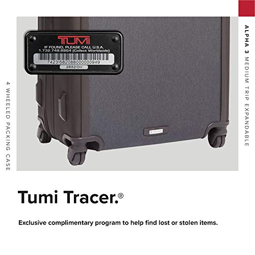 TUMI - Alpha 3 Medium Trip Expandable 4 Wheeled Packing Case Suitcase - Rolling Luggage for Men and Women - Anthracite