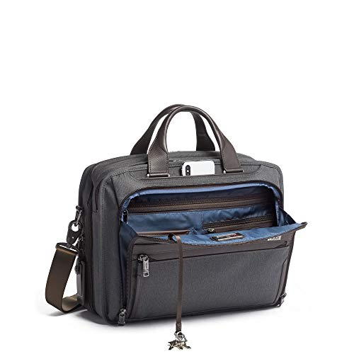 TUMI - Alpha 3 Organizer Laptop Brief Briefcase - 15 Inch Computer Bag for Men and Women - Anthracite