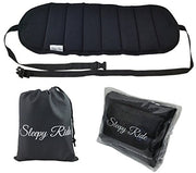 Sleepy Ride - Airplane Footrest Made with Premium Memory Foam - Airplane Travel Accessories - Tested and Proven to Prevent Swelling and Soreness - Provides Relaxation and Comfort (Jet Black)