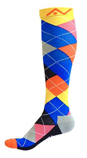 Compression Socks (1 pair) for Women & Men (Ardent Argyle, S/M)