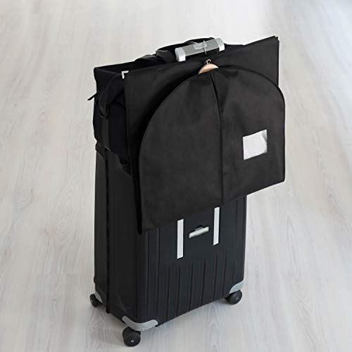 Shoe Bag 3 x Premium Garment Bag incl 39.4 x 23.6 inches Breathable Bags for Suits Jackets and Dresses Bruce Suit Bags for Travel and Storage 39.4 x 23.6 inches - 100 cm x 60 cm