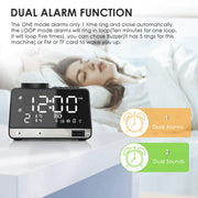 Alarm Clock Radio, Leyeet Wireless Bluetooth Speaker, and USB Charger